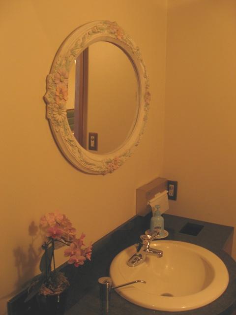 中国の格子の鏡をレストランへ