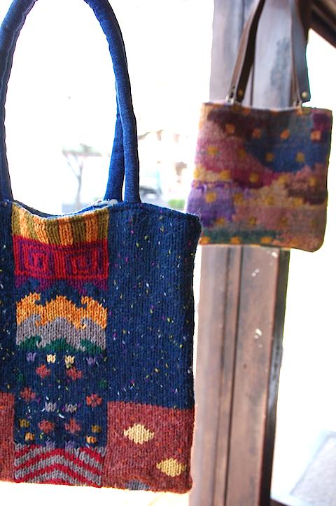 セーターのリメイク バッグ作品