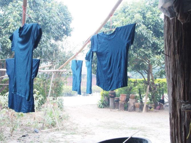 小倉商会 木綿 藍染 Tシャツ